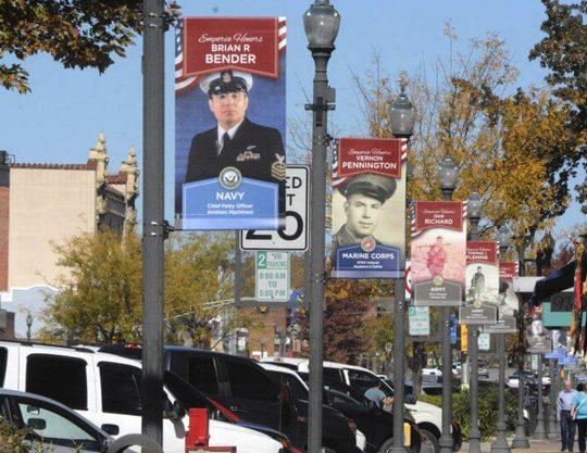 Kansas Honor Banners Local Veterans